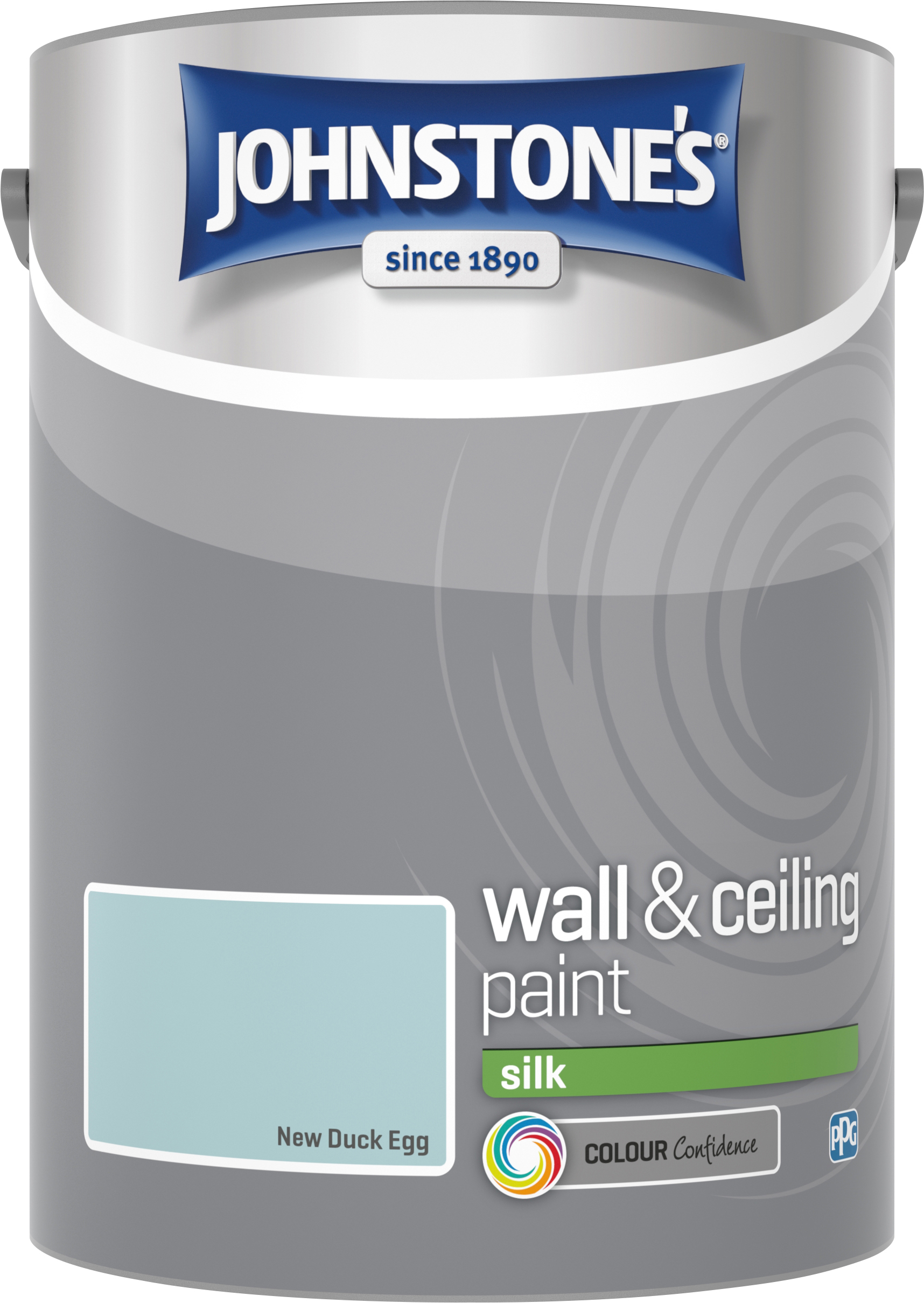 Johnstone's 5 Litre Silk Emulsion Paint - New Duck Egg