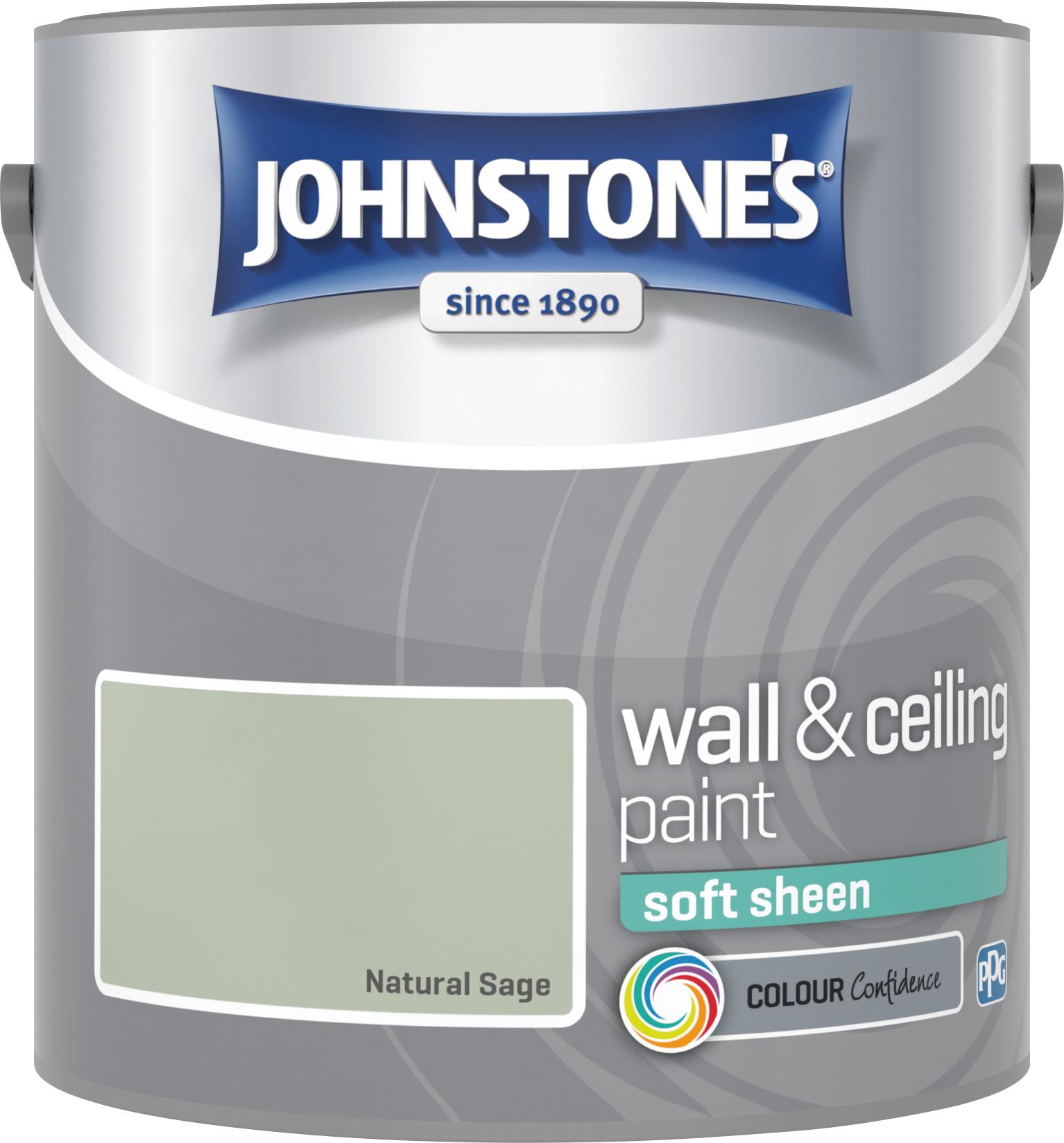 Johnstone's 2.5 Litre Soft Sheen Emulsion Paint - Natural Sage