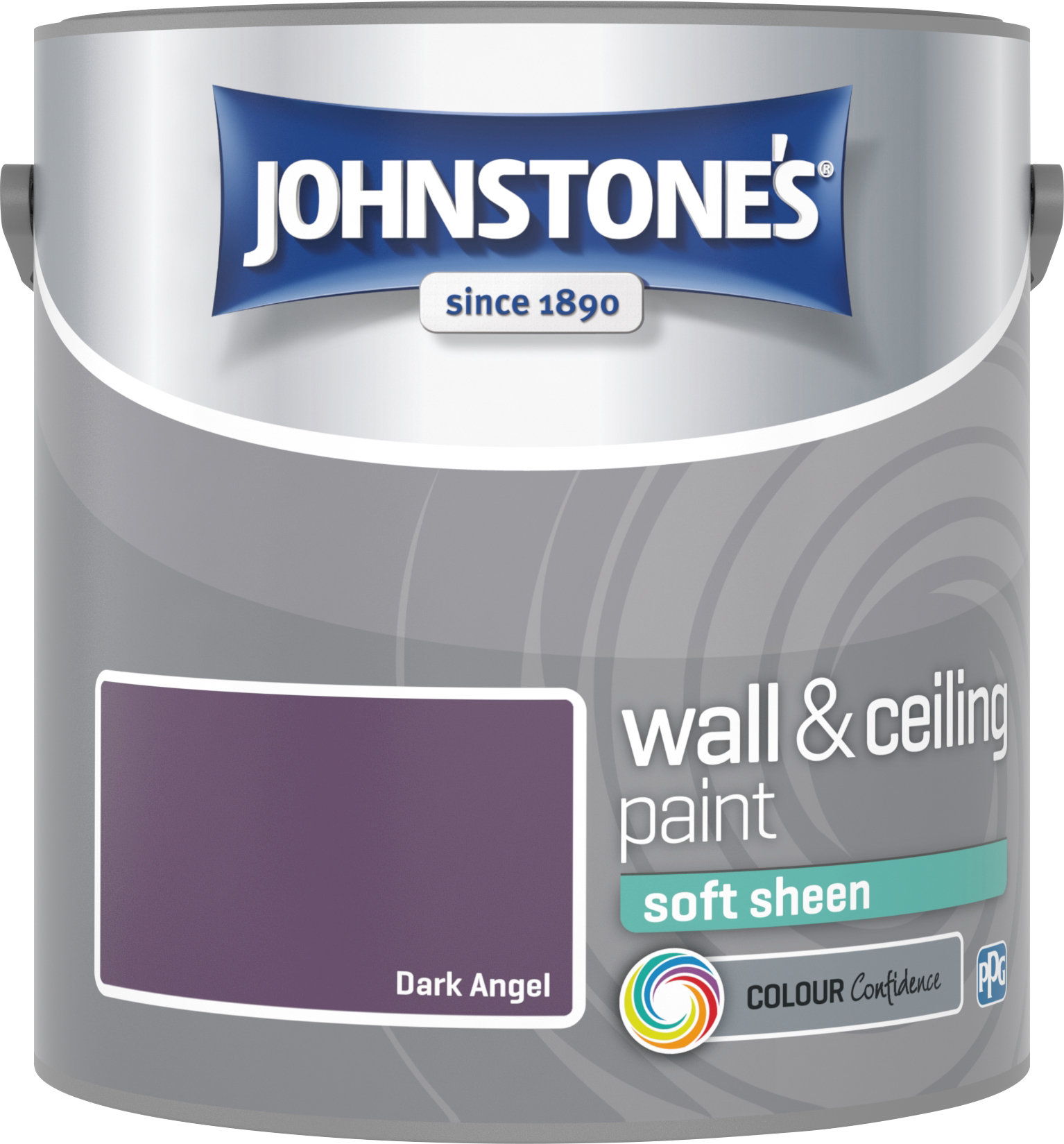Johnstone's 2.5 Litre Soft Sheen Emulsion Paint - Dark Angel