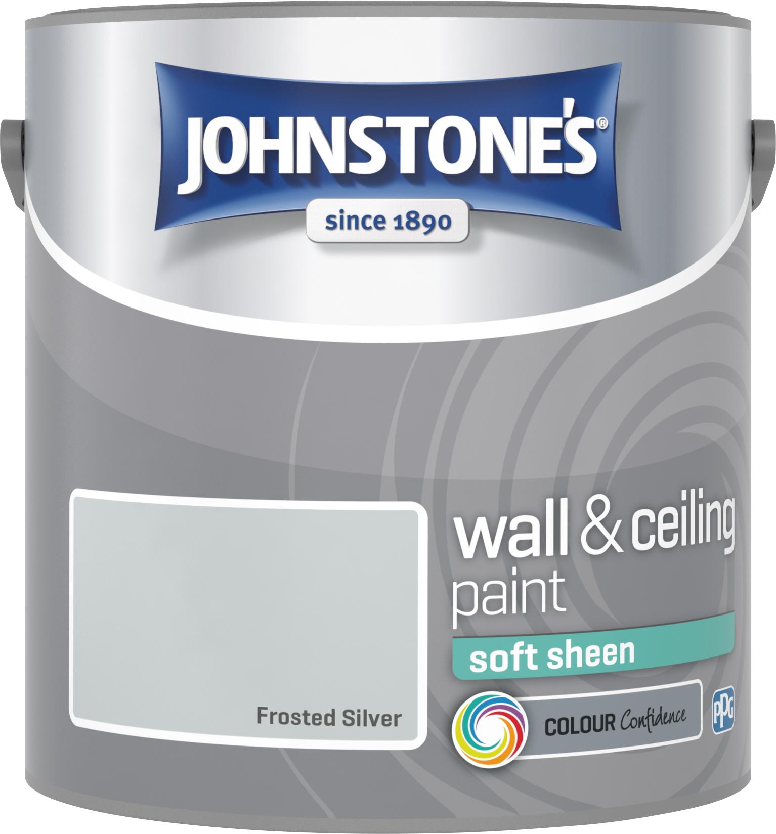 Johnstone's 2.5 Litre Soft Sheen Emulsion Paint - Frosted Sliver
