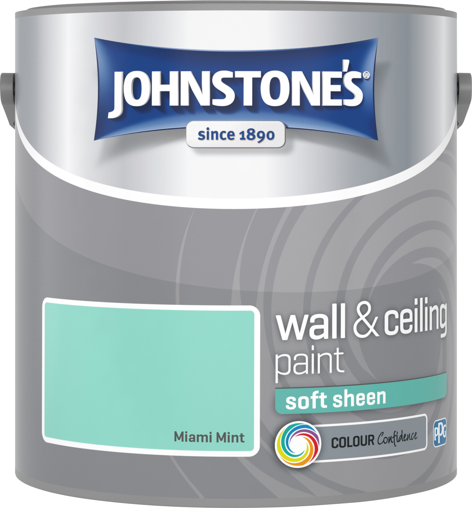 Johnstone's 2.5 Litre Soft Sheen Emulsion Paint - Miami Mint