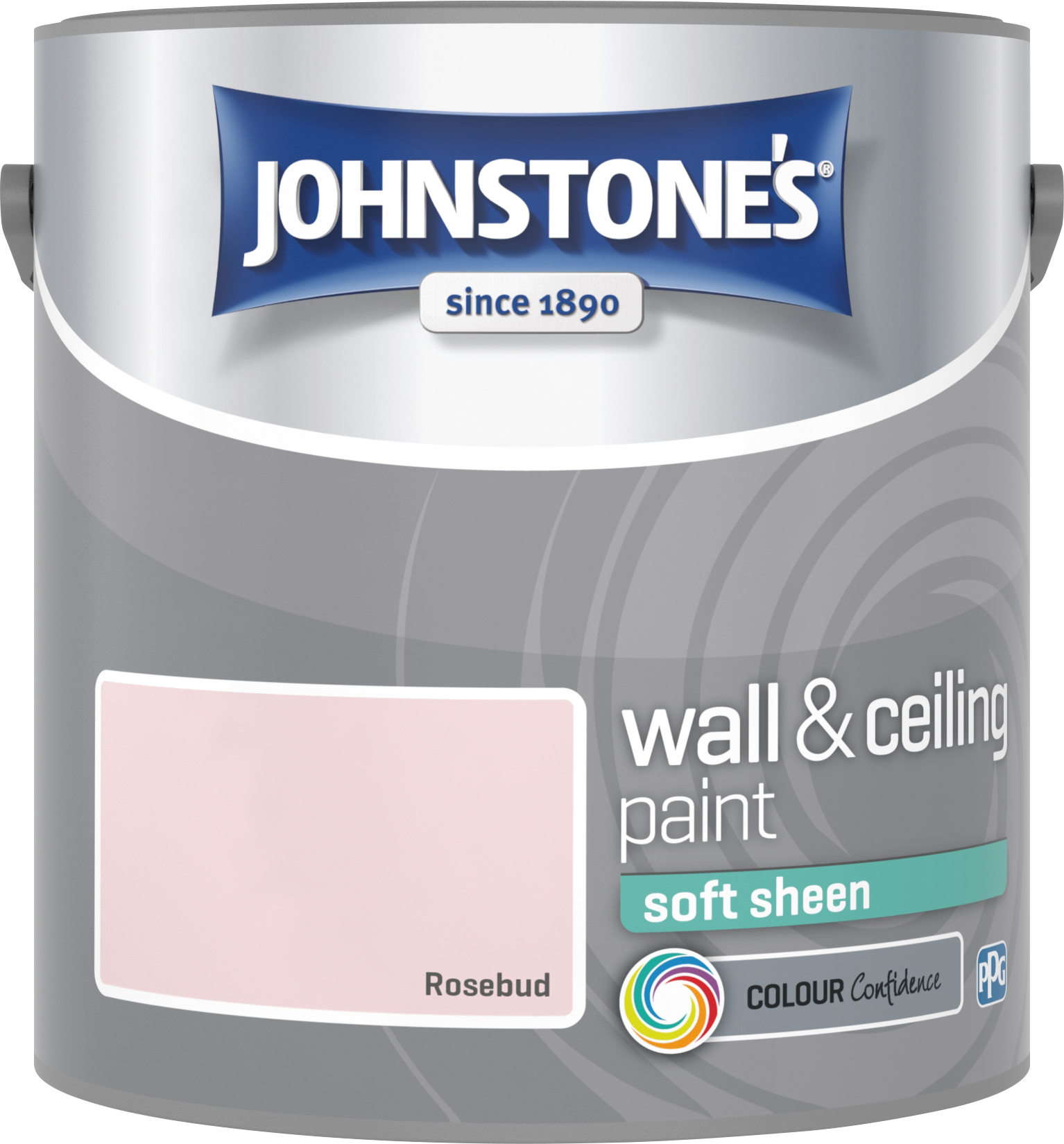 Johnstone's 2.5 Litre Soft Sheen Emulsion Paint - Rosebud