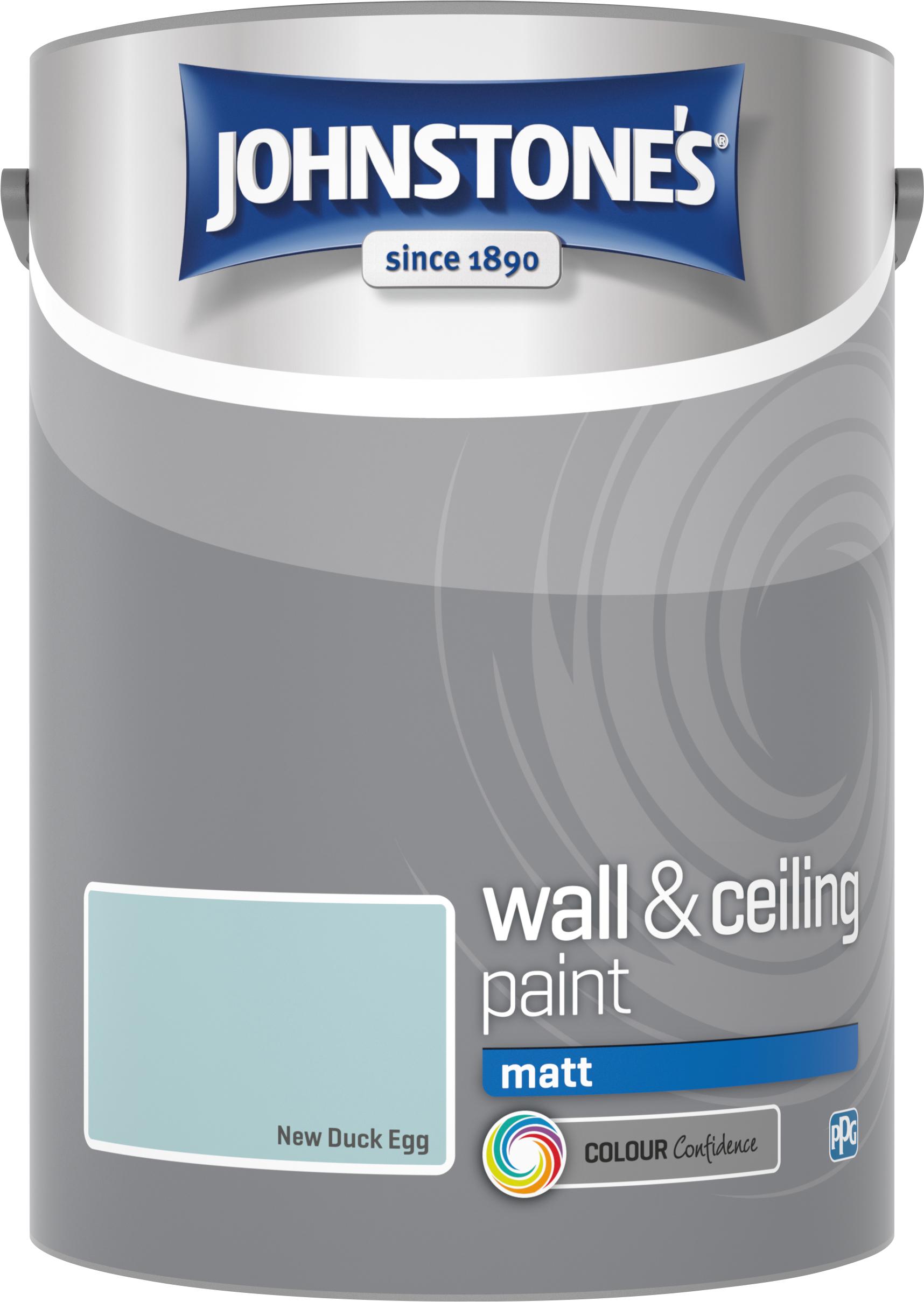 Johnstone's 5 Litre Matt Emulsion Paint - New Duck Egg