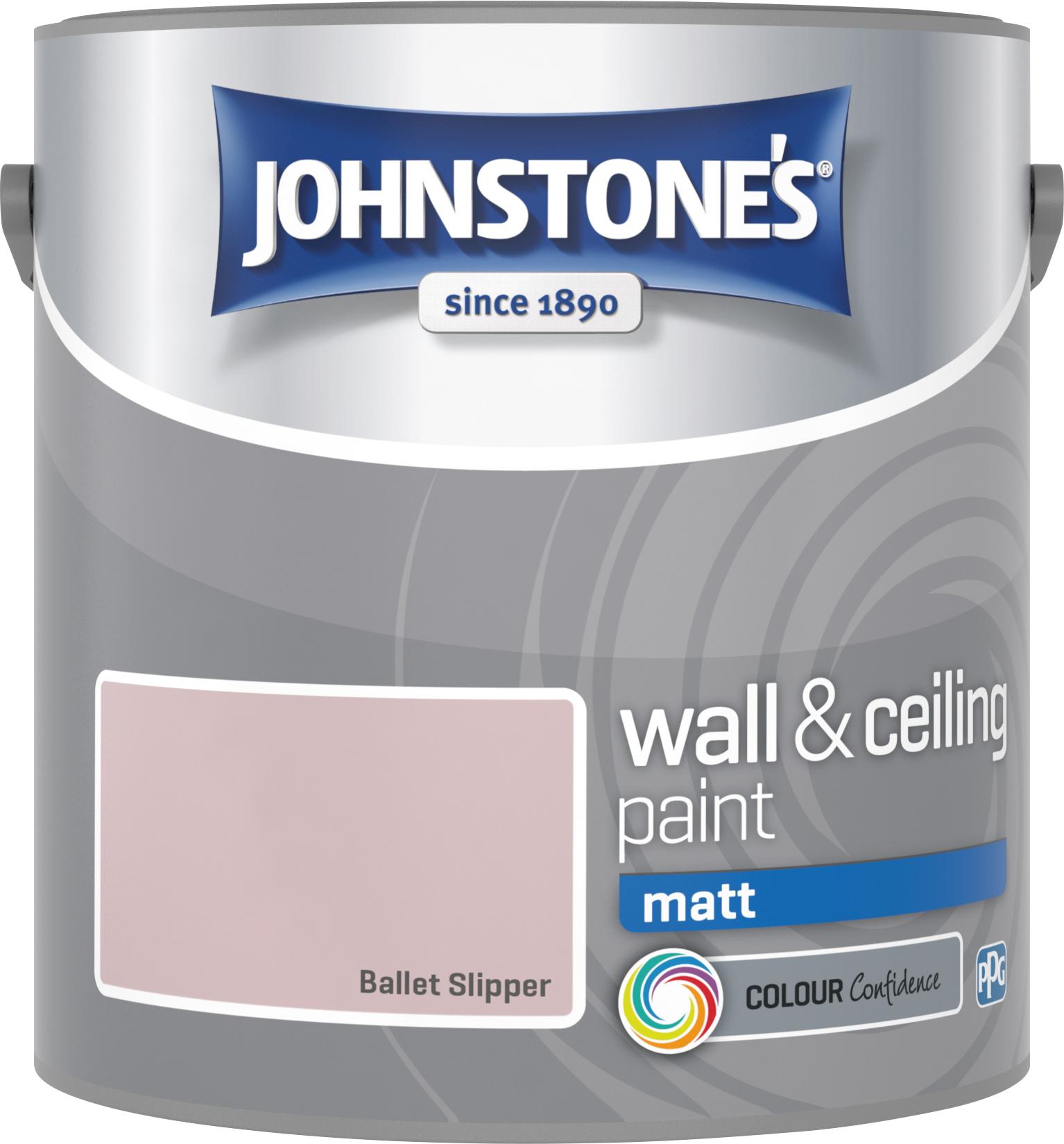 Johnstone's 2.5 Litre Matt Emulsion Paint - Ballet Slipper