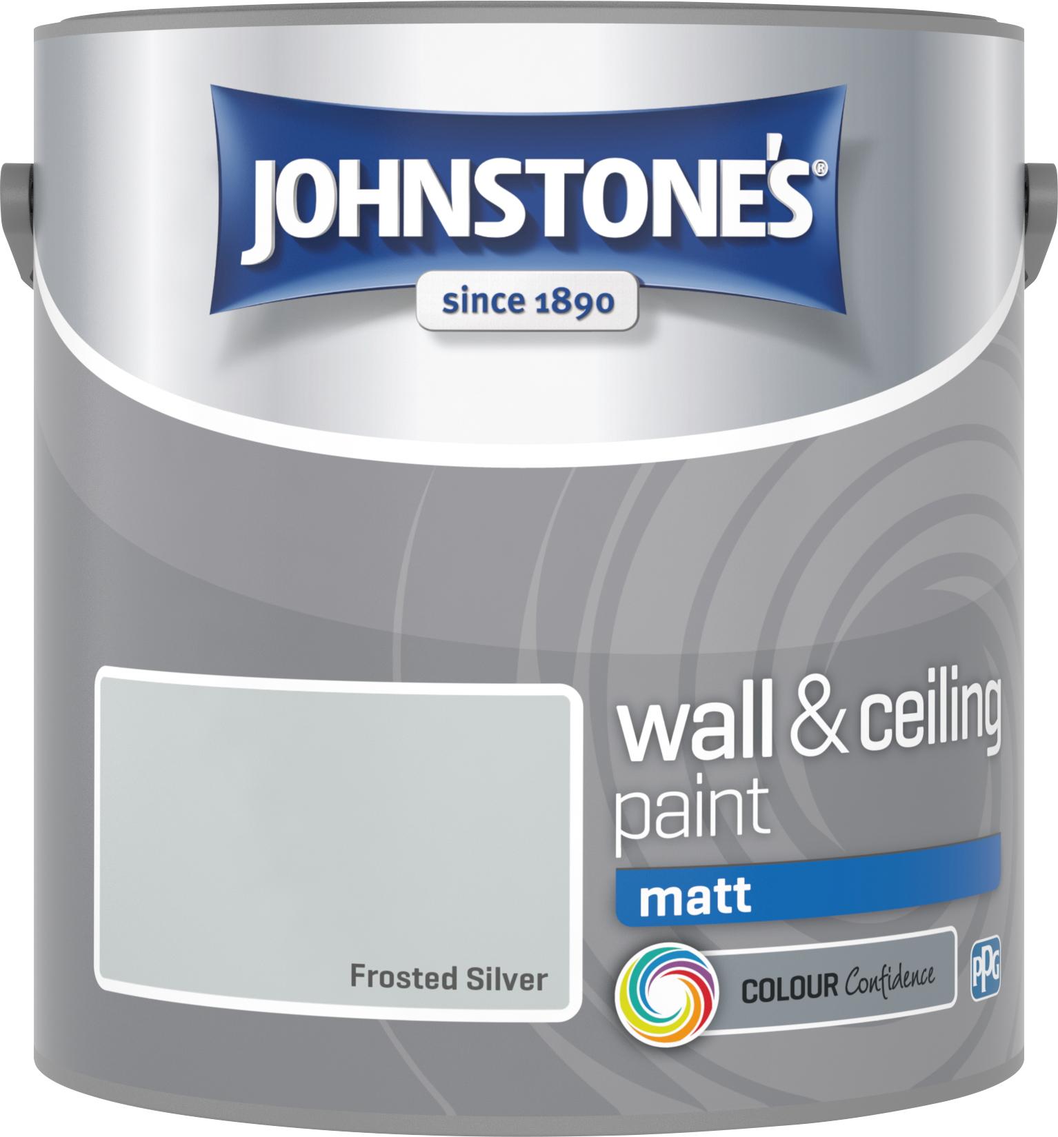 Johnstone's 2.5 Litre Matt Emulsion Paint - Frosted Sliver