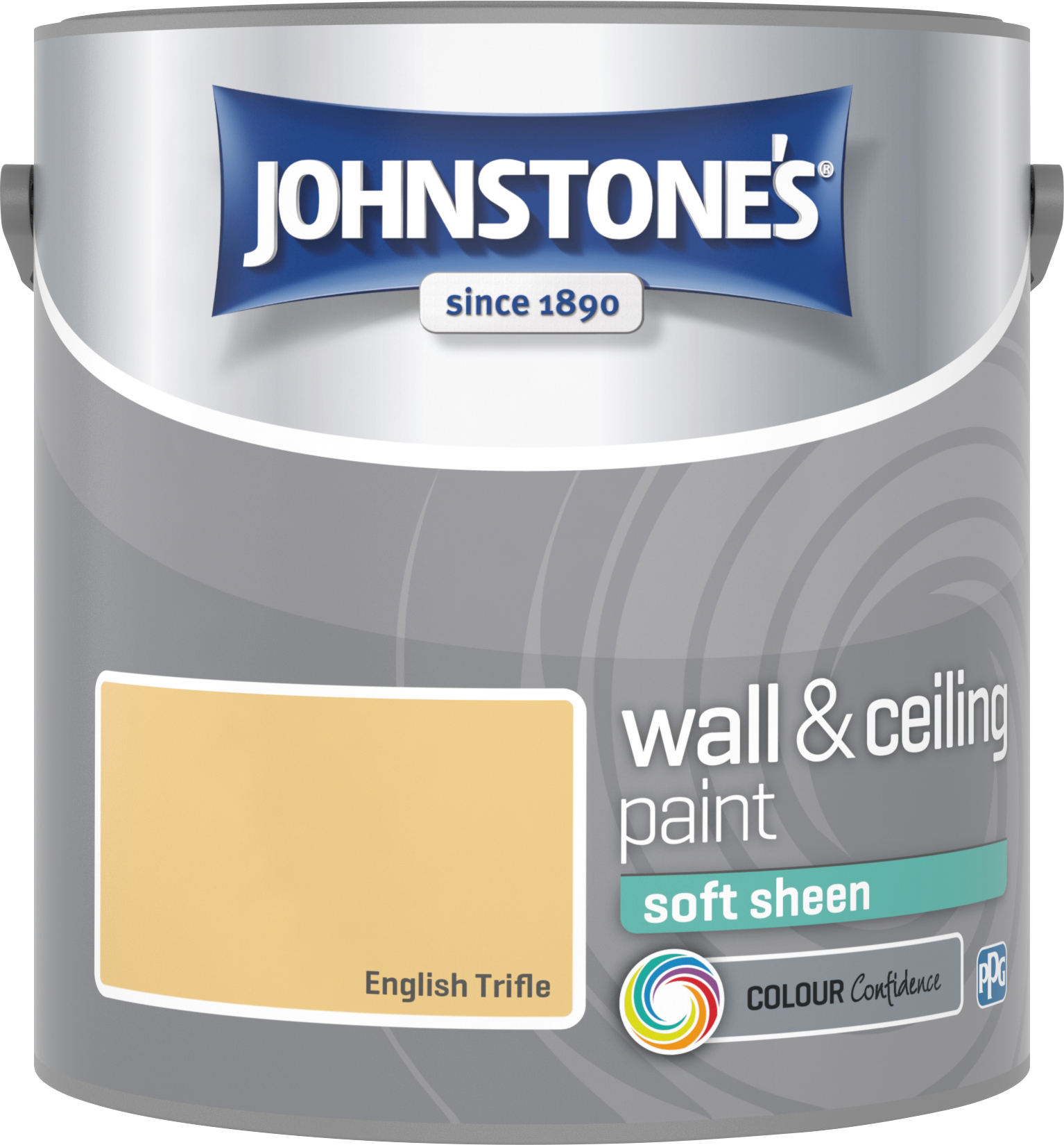 Johnstone's 2.5 Litre Soft Sheen Emulsion Paint - English Trifle