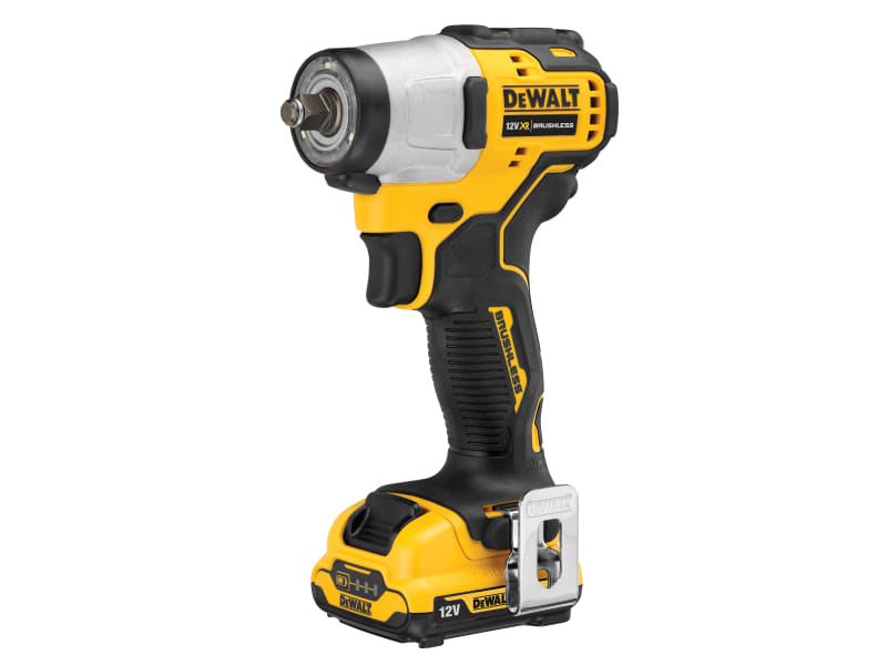 DeWalt Brushless XR Sub-Compact 3/8in Impact Wrench 12V 2 x 2.0Ah Li-ion
