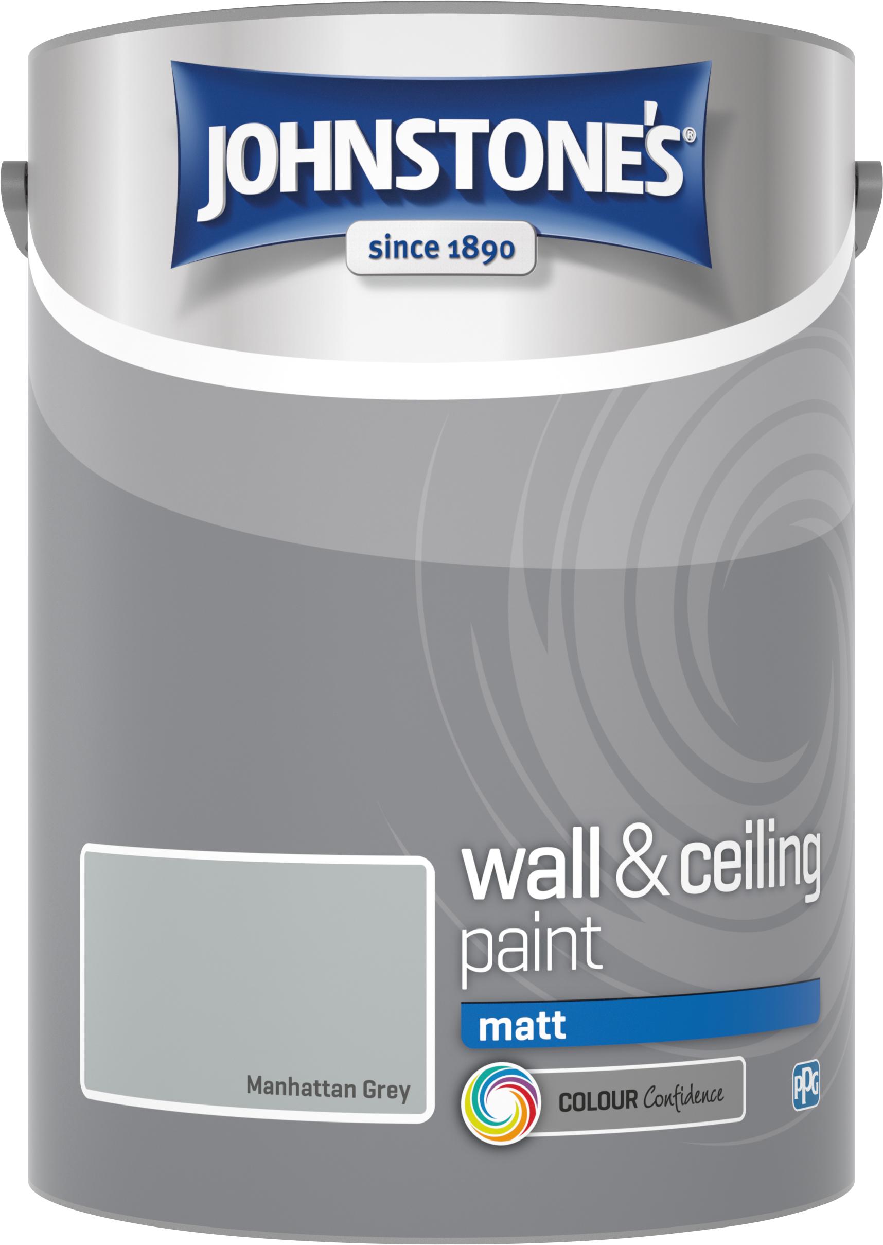 Johnstone's 307781 5 Litre Matt Emulsion Paint - Manhattan Grey