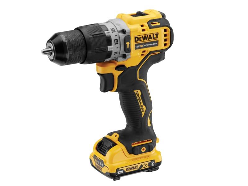 DeWalt Brushless Sub-Compact Hammer Drill 12V 2 x 2.0Ah Li-ion