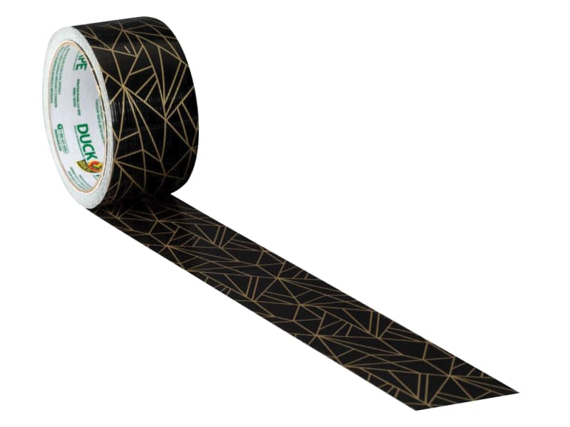Duck Tape 48mm X 9.1m Gold Geometric