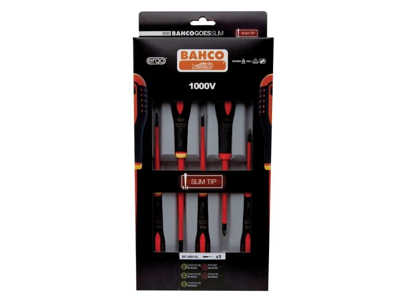 Bahco Ergo Insulated Screwdriver Slim SL/PH Set, 5 Piece