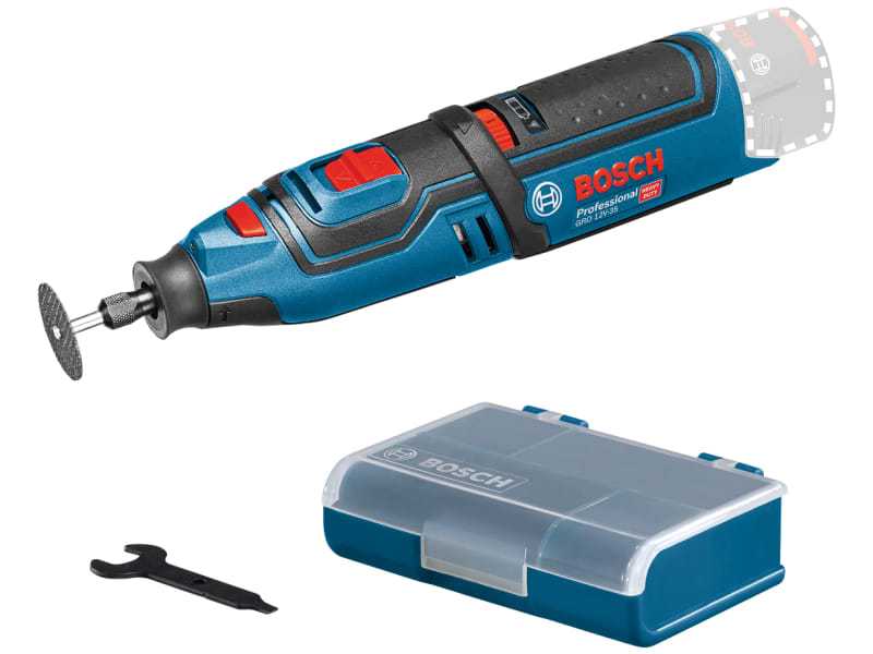 Bosch GRO 12V-35 12V Cordless Rotary Tool Bare Unit with accessories