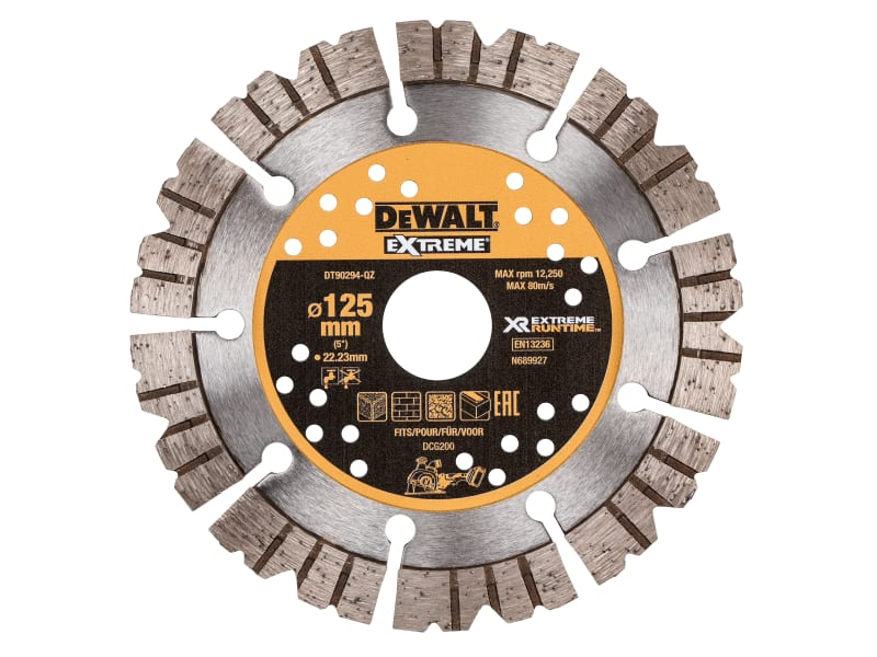 Dewalt Extreme Diamond Cutting Blade 125 x 22.23mm
