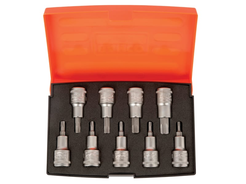 Bahco S9TORX 1/2in Drive Socket Set of 9 Metric