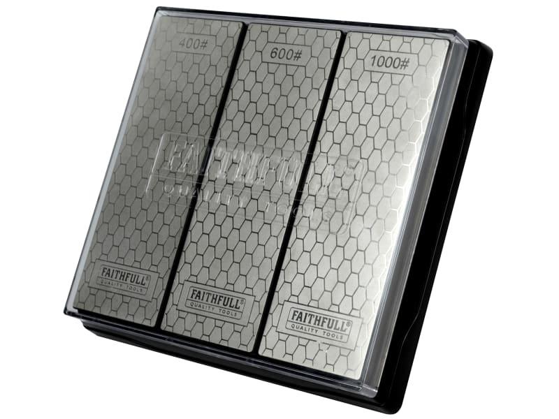 Faithfull Diamond Whetstone Kit, 3 Piece