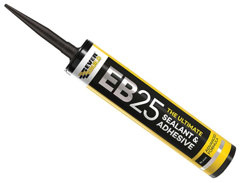 EverBuild EB25 Hybrid Sealant Adhesive Black 300ml
