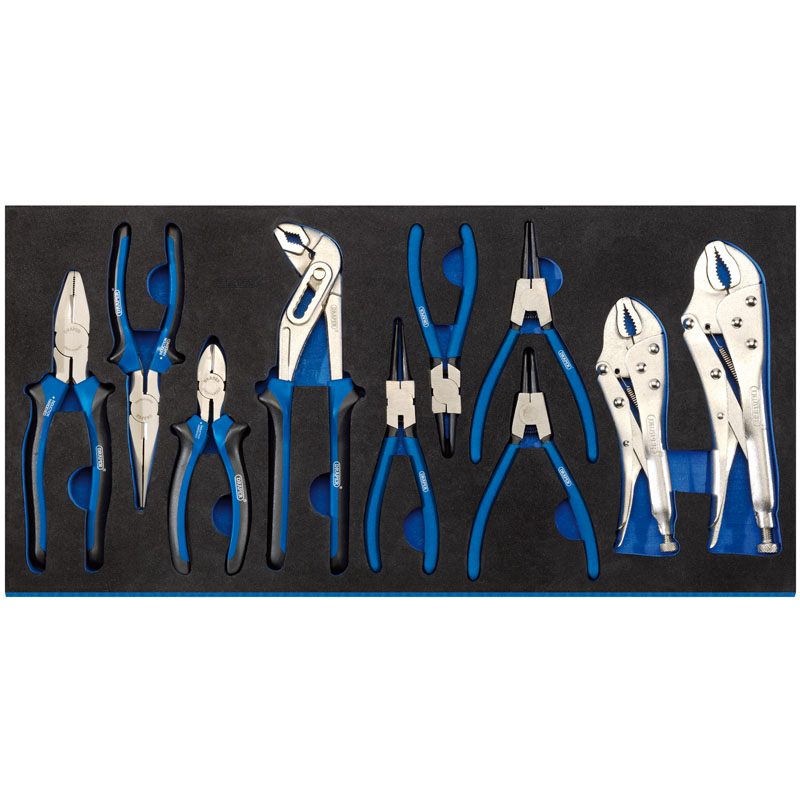 Draper Plier Set In Full Drawer Eva Insert Tray (10 Piece)