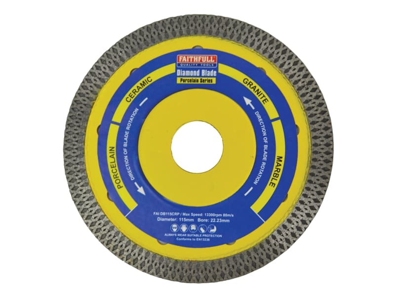 Faithfull Porcelain Diamond Blade 115 x 22.23mm