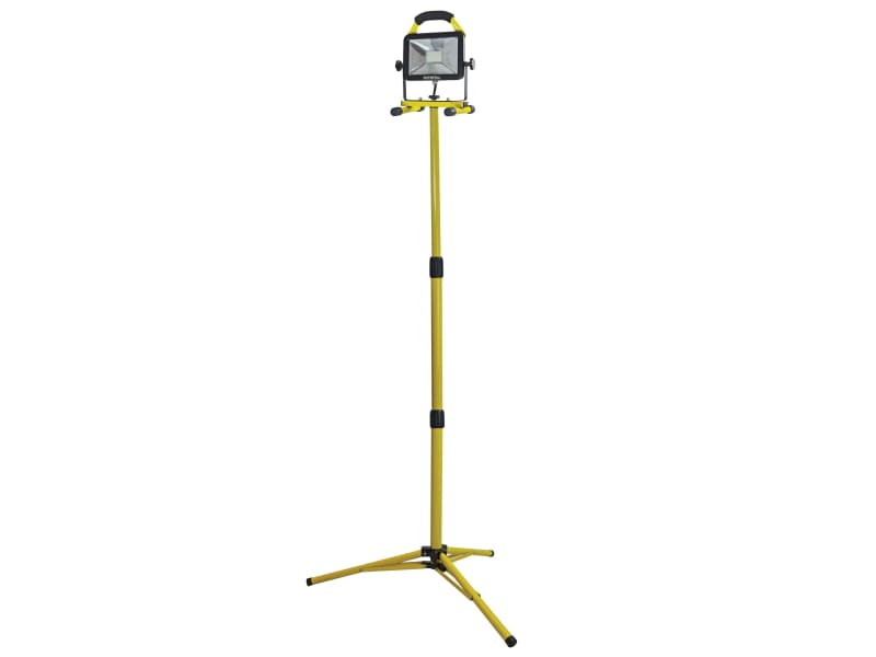 Faithfull Power Plus Site Light With Tripod 20w 1800 Lumen 110v