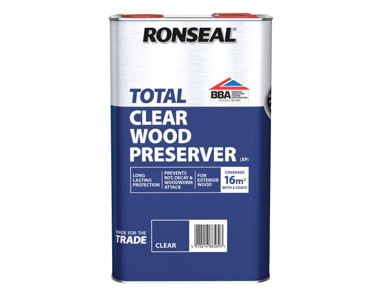 Ronseal Trade Total Wood Preserver Clear 5 Litre