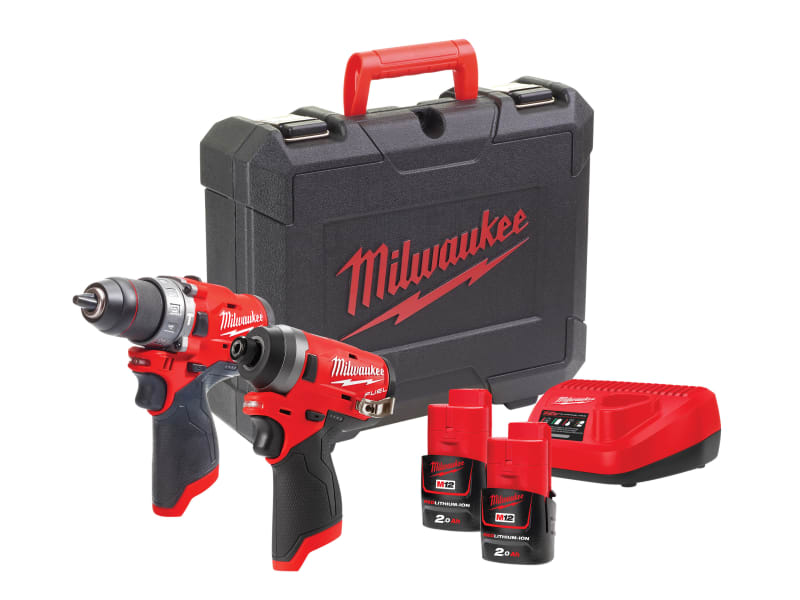 Milwaukee M12 FPP2A-202C FUEL™ Twin Pack 12V 2 x 2.0Ah Li-ion