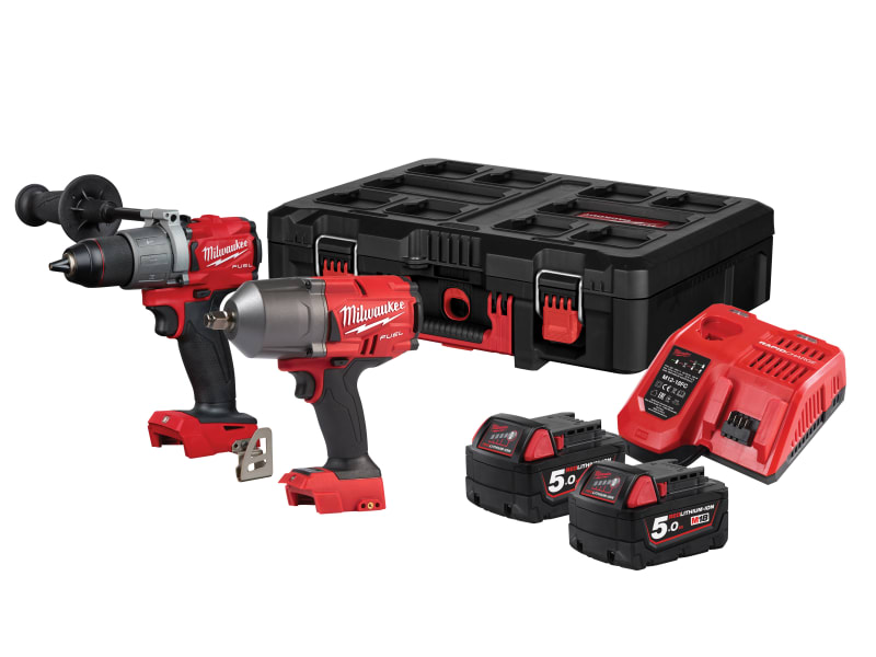 Milwaukee M18 FPP2I2-502P FUEL™ Powerpack Twin Pack 18V 2 x 5.0Ah Li-ion
