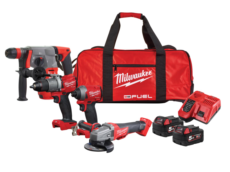 Milwaukee M18 FPP4G2-502B FUEL™ Powerpack 18V 2 x 5.0Ah Li-ion