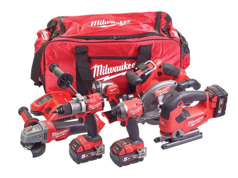 Milwaukee M18 FPP6D2-503B FUEL™ Powerpack 6 Piece Kit 18V 3 x 5.0Ah Li-ion