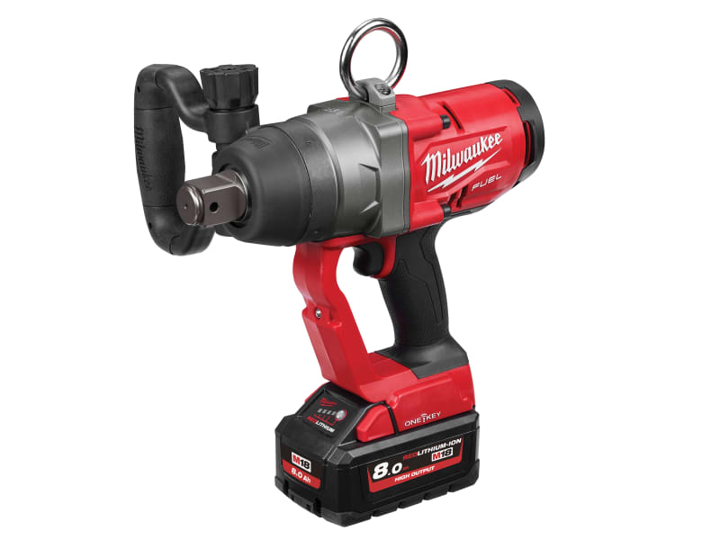 Milwaukee M18 ONEFHIWF1-802X FUEL™ ONE-KEY™ 1in Impact Wrench 18V 2 x 8.0Ah Li-ion