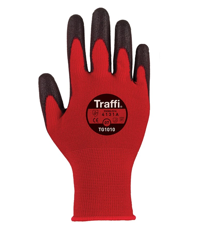 TraffiGlove X-Dura PU palm dipped gloves - Size 7 - Pack of 10 pairs