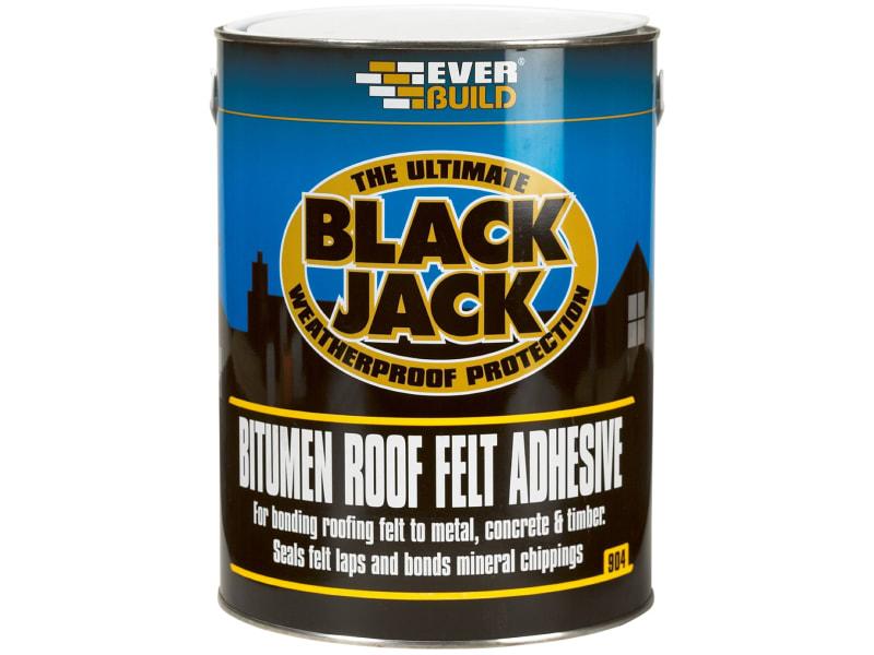 EverBuild Black Jack 904 Bitumen Roof Felt Adhesive 5 Litre