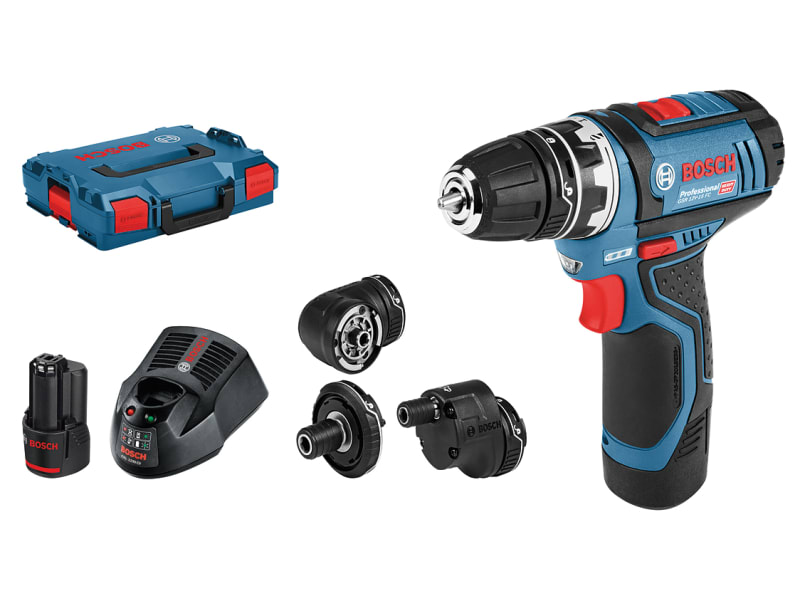 BOSCH GSR 12V-15 Drill Driver with GFA12 Accessory Set 12V 2 x 2.0Ah Li-ion