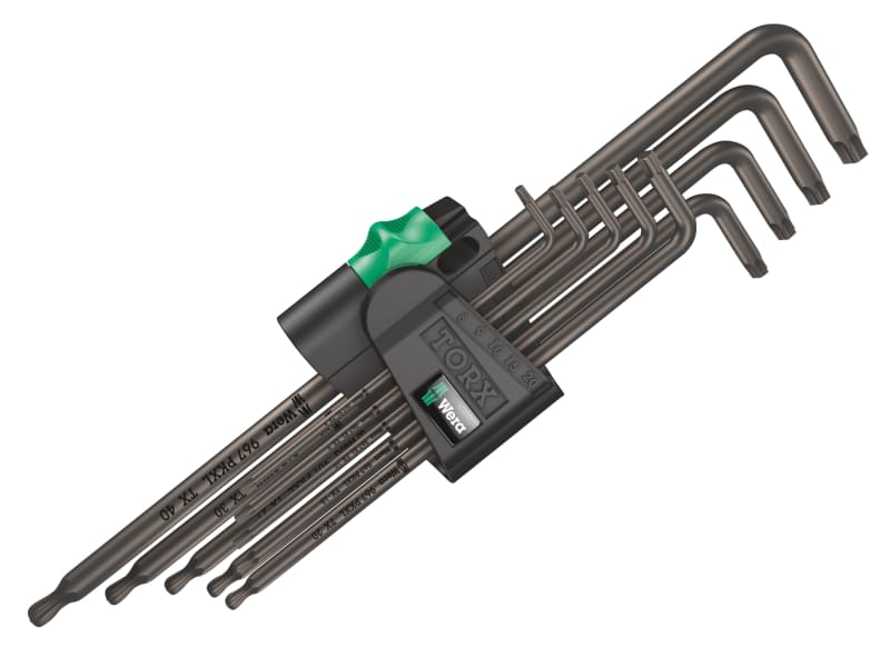 Wera TORX XL BL L-Key Set of 9 (TX8-TX40)