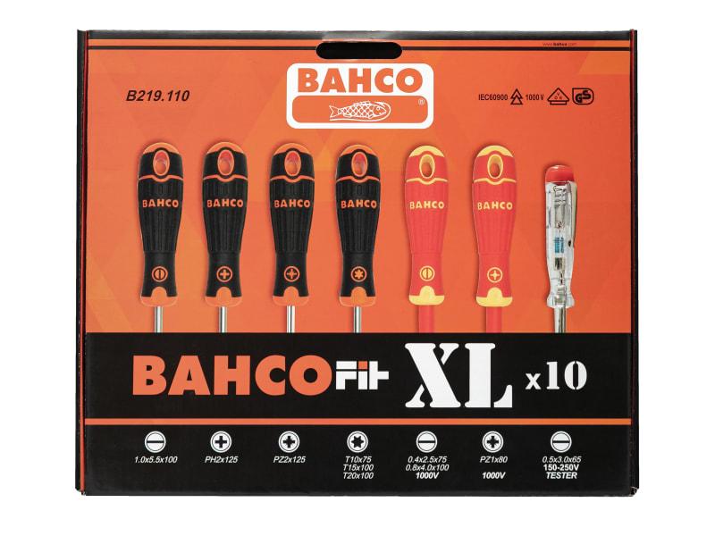 BahcoFit XL Screwdriver Set, 10 Piece SL/PH/PZ/TX