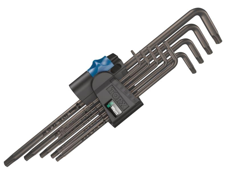 Wera 967/9 TORX XL BL HF L-Key Set of 9 (TX8-TX40)