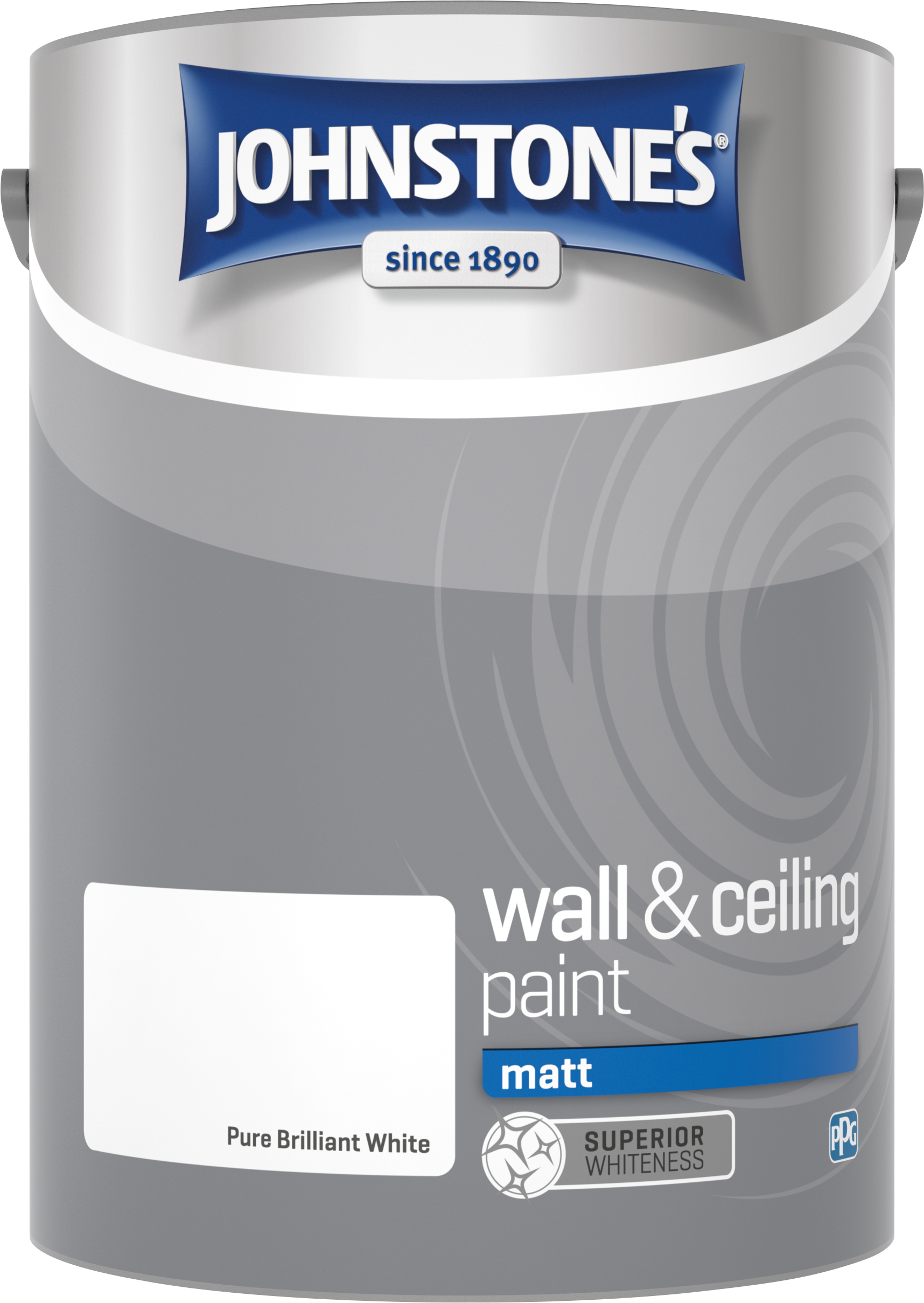 Johnstone's 303968 5 Litre Matt Emulsion Paint - Brilliant White