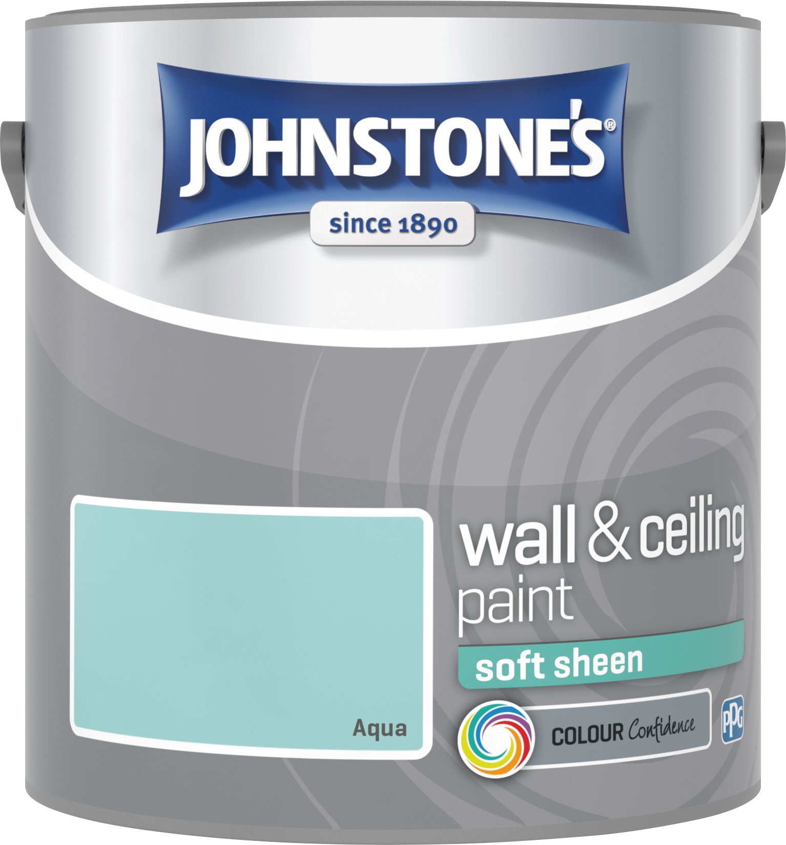 Johnstone's 303950 2.5 Litre Soft Sheen Emulsion Paint - Aqua