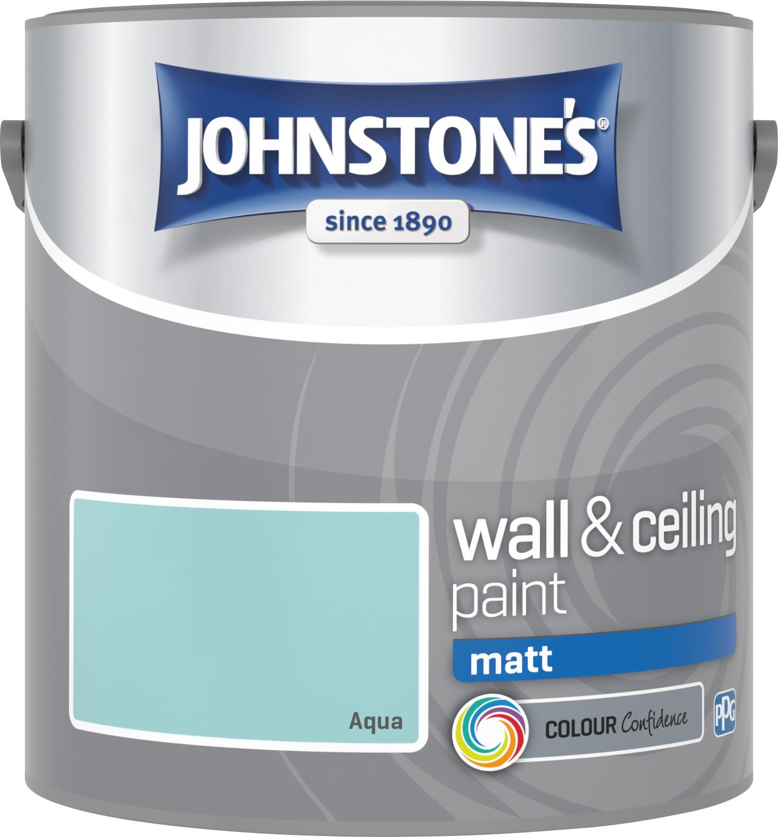 Johnstone's 304004 2.5 Litre Matt Emulsion Paint - Aqua
