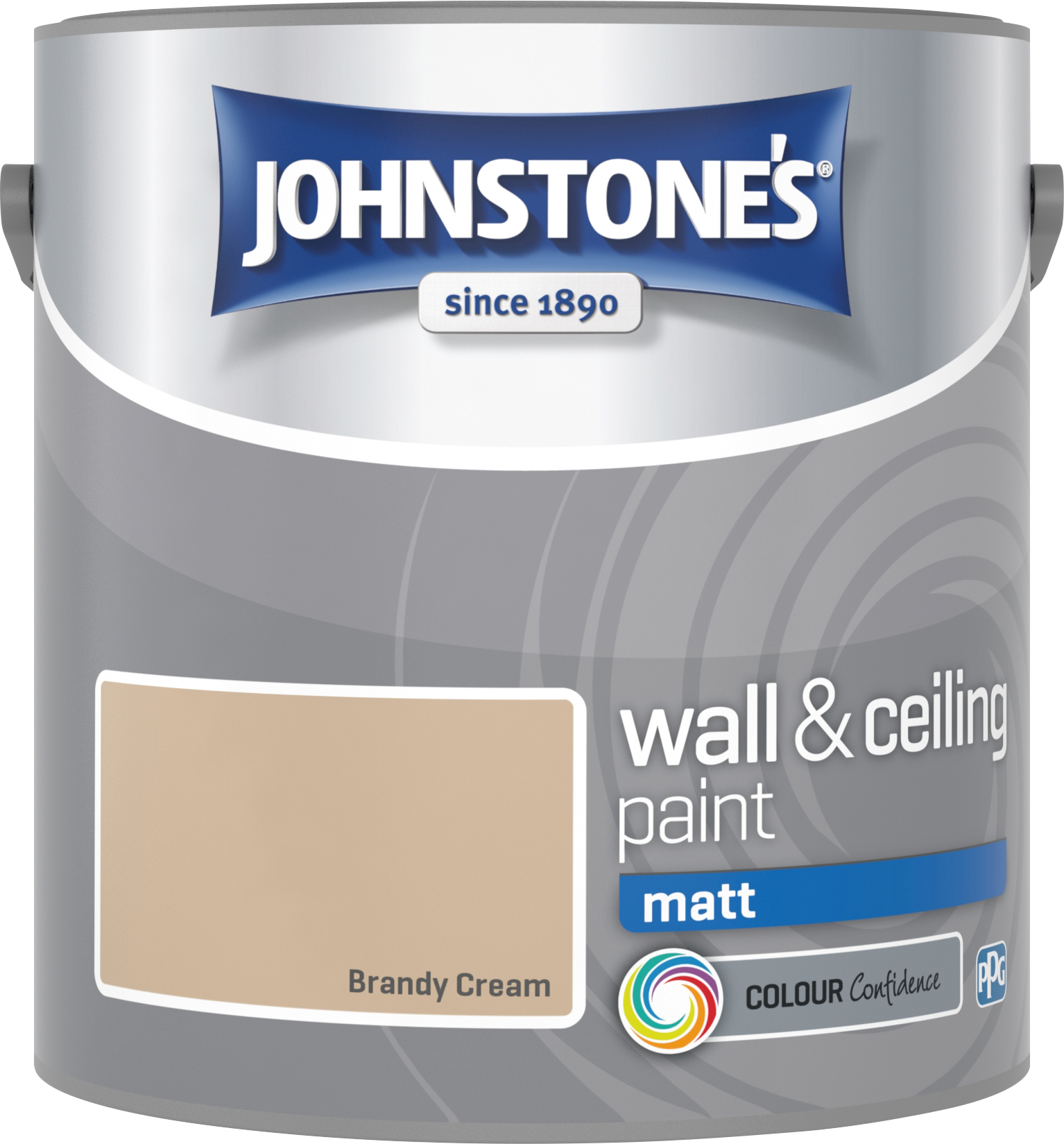 Johnstone's 304011 2.5 Litre Matt Emulsion Paint - Brandy Cream