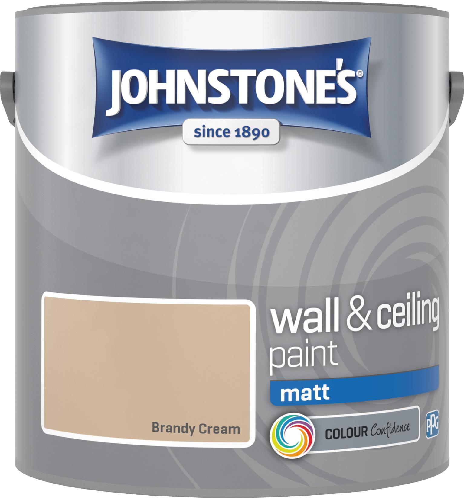 Johnstone's 304011 2.5 Litre Matt Emulsion Paint - Brandy Cream