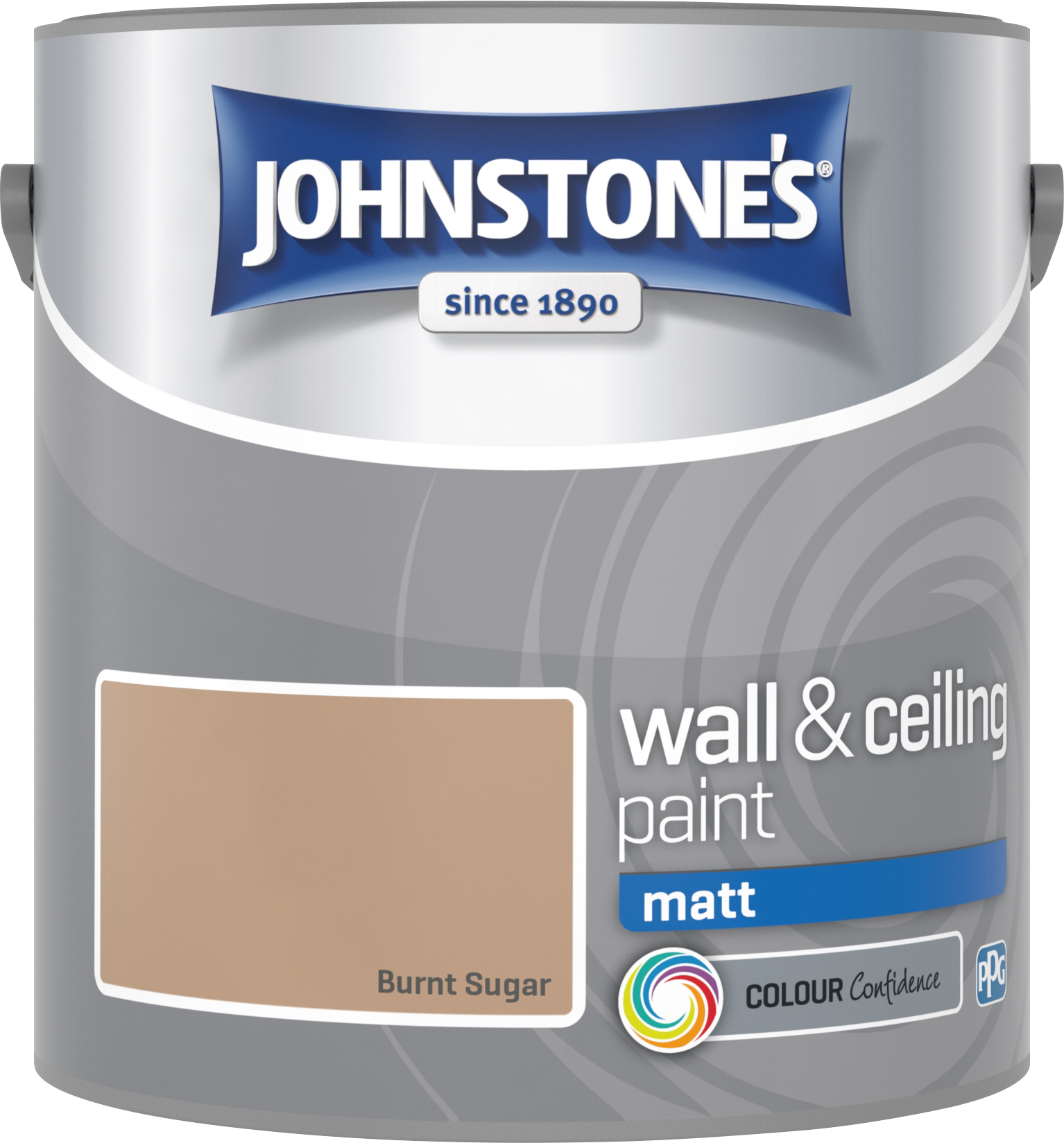 Johnstone's 304012 2.5 Litre Matt Emulsion Paint - Burnt Sugar