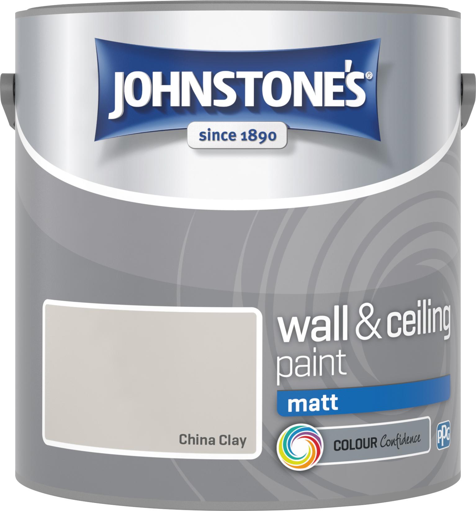 Johnstone's 304013 2.5 Litre Matt Emulsion Paint - China Clay