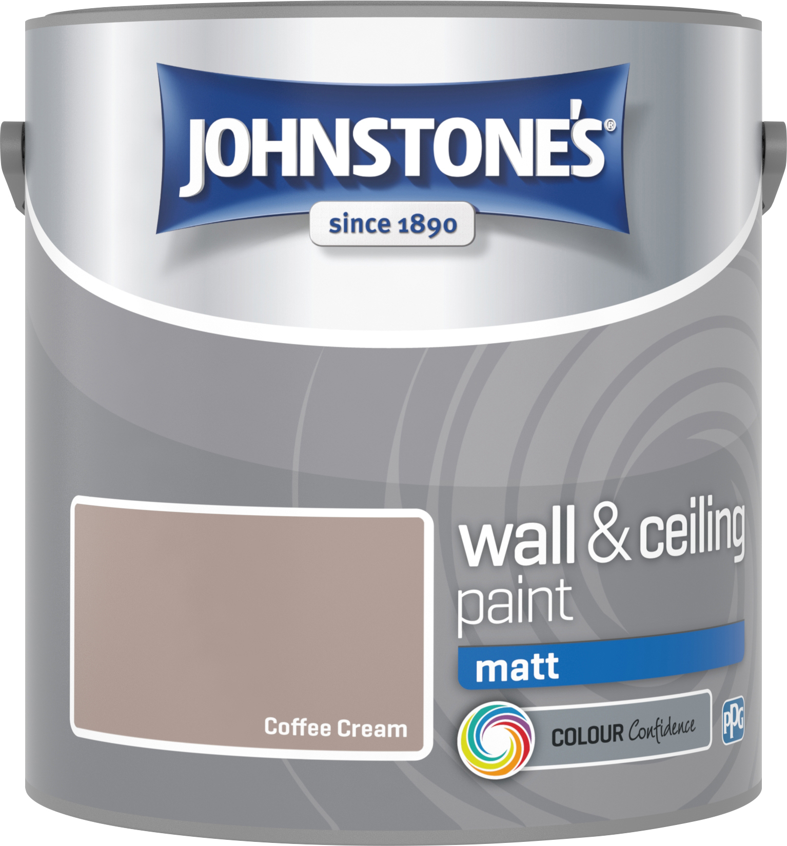 Johnstone's 304015 2.5 Litre Matt Emulsion Paint - Coffee Cream
