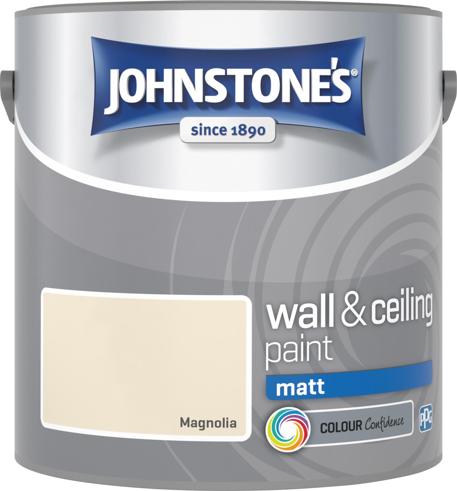 Johnstone's 304025 2.5 Litre Matt Emulsion Paint - Magnolia