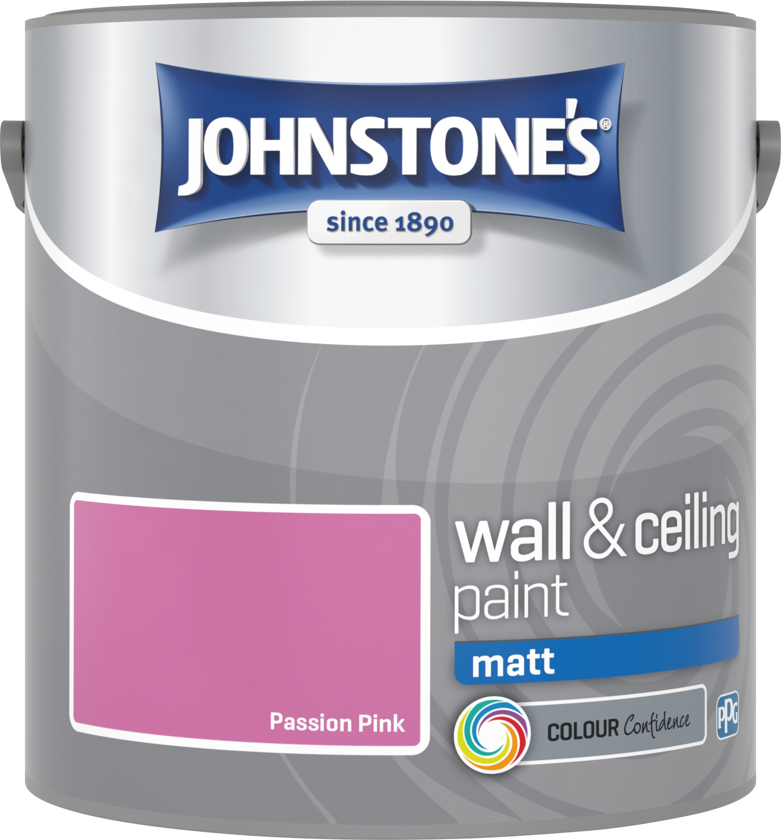 Johnstone's 304028 2.5 Litre Matt Emulsion Paint - Passion Pink