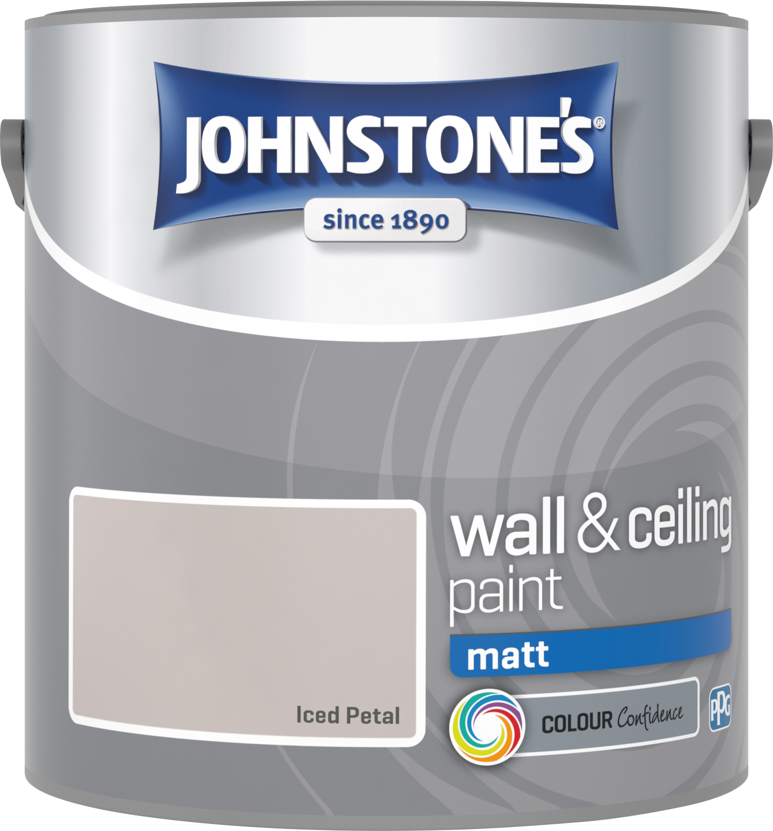 Johnstone's 304039 2.5 Litre Matt Emulsion Paint - Iced Petal