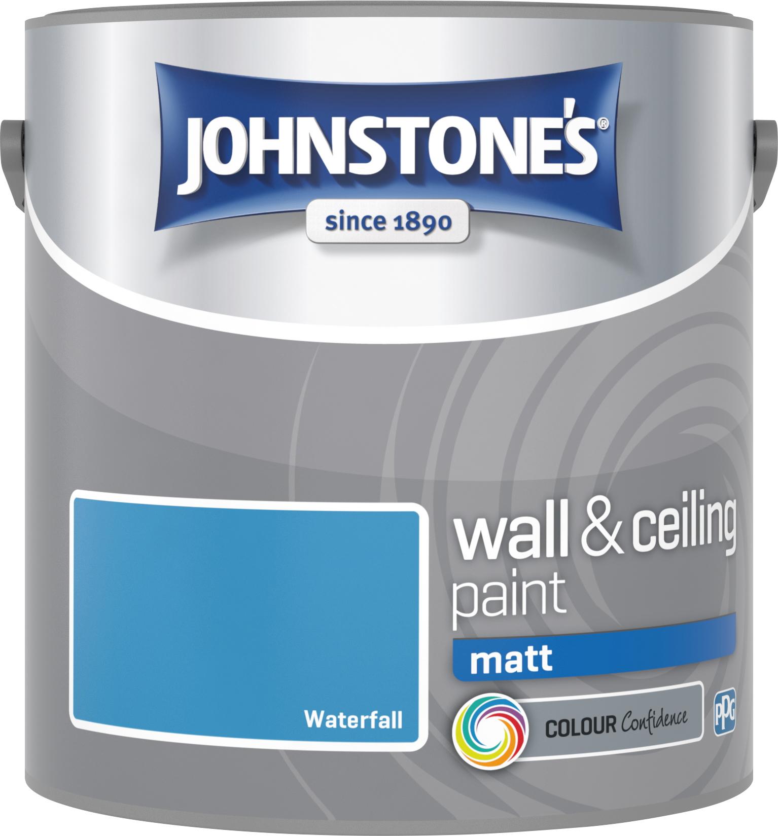 Johnstone's 304043 2.5 Litre Matt Emulsion Paint - Waterfall