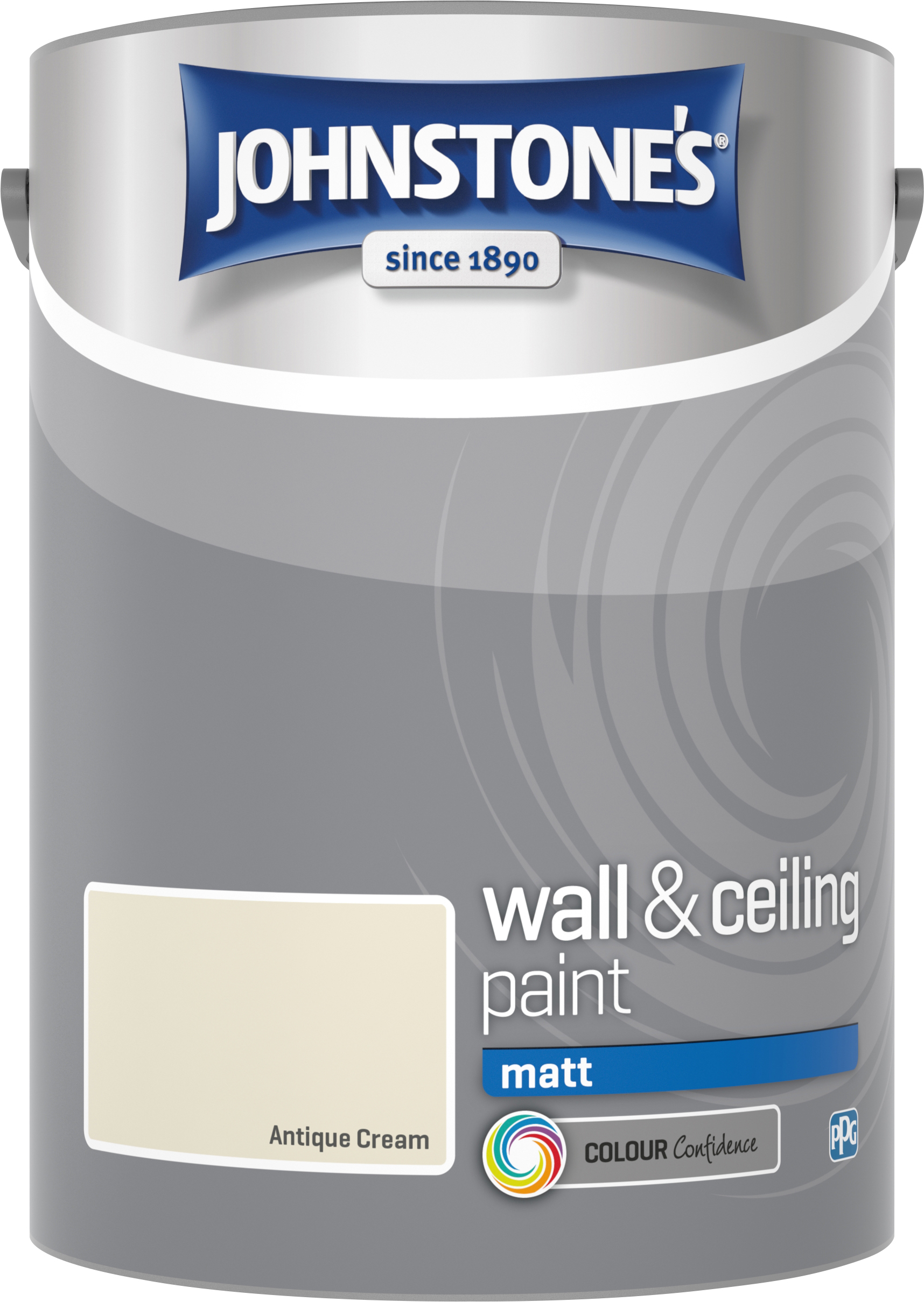 Johnstone's 304045 5 Litre Matt Emulsion Paint - Antique Cream