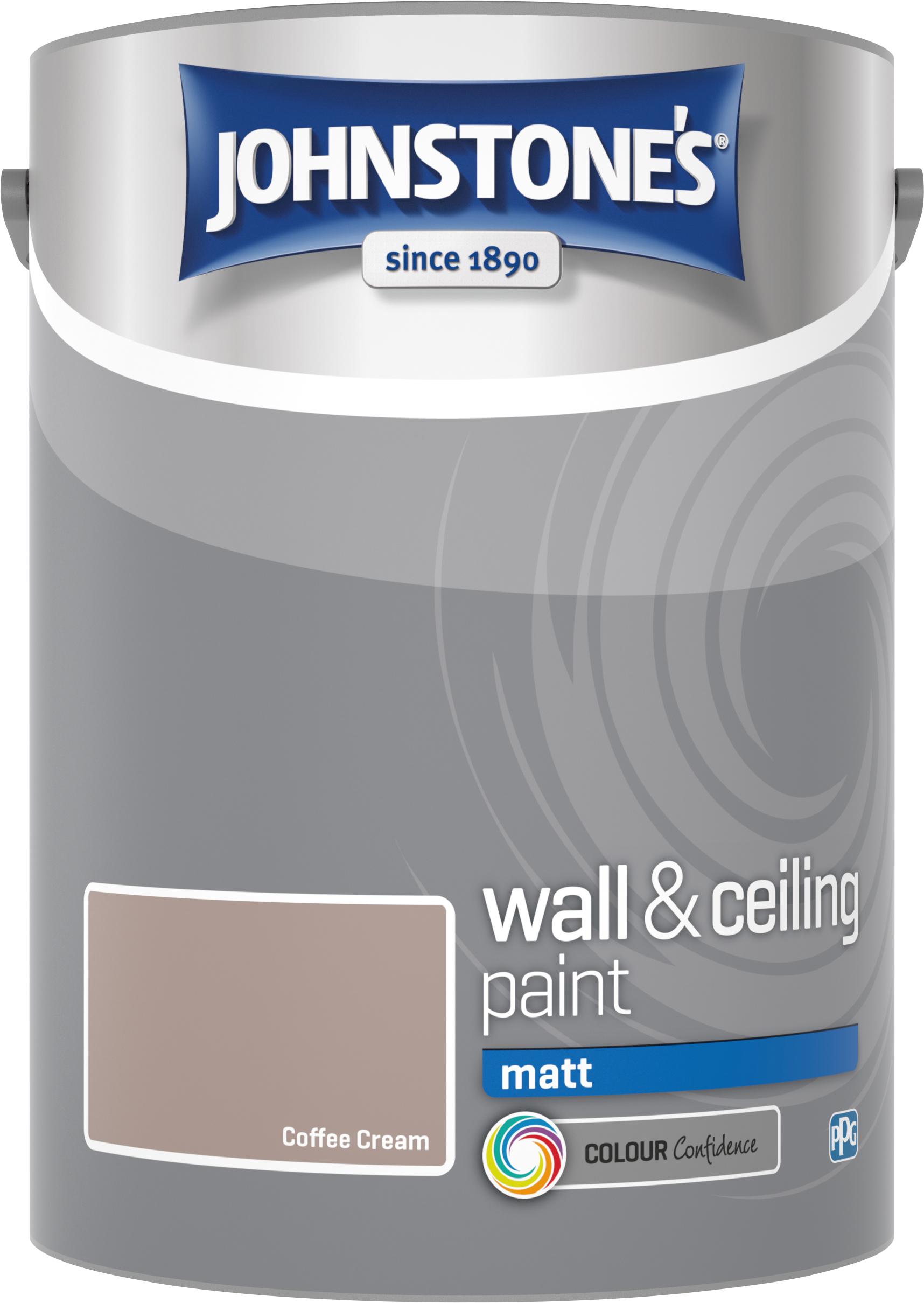 Johnstone's 304050 5 Litre Matt Emulsion Paint - Coffee Cream