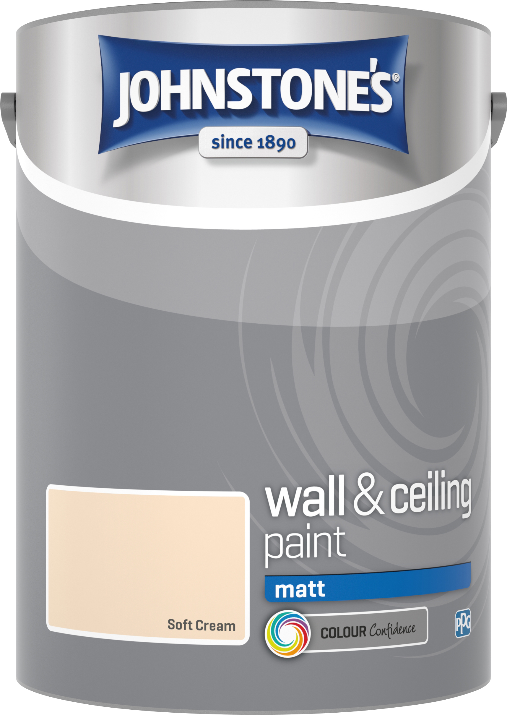 Johnstone's 304058 5 Litre Matt Emulsion Paint - Soft Cream
